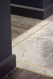 Metal floor tiles Metallic Silver Oak And Tiles Divided With Metal Strip Might Not Be In The Cost Plan But Hey Pinterest The Absolute Guide To Hardwood Flooring Inspiration And Relaxation