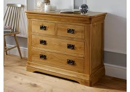 Farmhouse Country Oak 2 Over 2 Chest Of Drawers