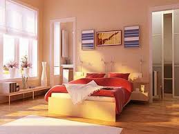 Bedroom, The Good Design Of Good Color To Paint Bedroom With Brown Wall  Also The Brown Laminating Flooring And White Glass Window And The Wooden  Brown Bed ...