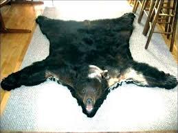 faux bear skin rug for nursery fur with head pattern fake bearskin teddy