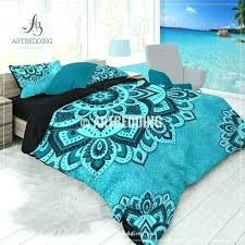 boho comforters twin xl quoise mandala bedding aqua duvet cover set teal comforter bedspread sets twin