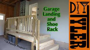 Garage Landing And Shoe Rack Youtube