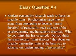 chapter quiz personality ppt video online  essay question 4