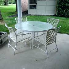 round glass patio tables replacement table top for furniture ideas tops brown parts