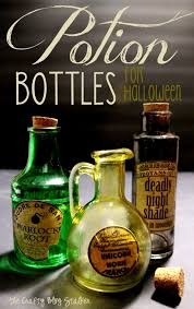 Halloween Decorations Potion Bottles How to Make Potion Bottles for Halloween The Crafty Blog Stalker 2