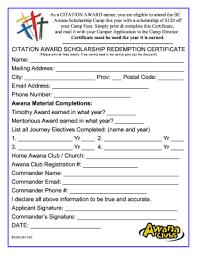 Awana Certificate Of Award 23 Printable Award Certificate Templates Forms Fillable Samples In