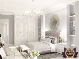 luxury bedroom furniture purple elements. Decorative Elements Fully Comply With The Traditions Of Modern Classics. Against Background Muted Shades Gray Walls Looked Juicy And Bright Luxury Bedroom Furniture Purple