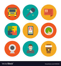 Google Flat Design Icons Flat Design Icons Symbols For Website And
