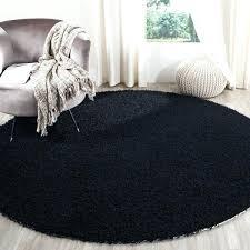 black circle rug handmade black polyester rug black and white circle area rug