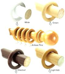 wood curtain rods and brackets rod wood curtain rods