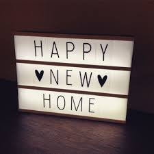 New Light Box Happy New Home House Warming Gift Idea A Light Box With