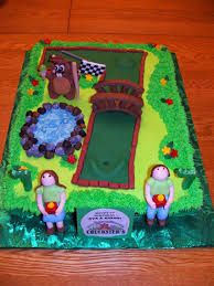 Mini Golf Birthday Cake In The Shape Of A 7 At Chucksters In Nh