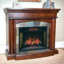 corner electric fireplace cherry finish hearth designs