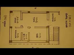 30 south face house plan map naksha