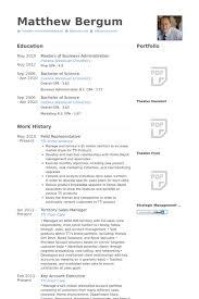 field representative resume samples - Field Representative Resume