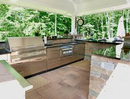 Steel Frame Outdoor Kitchen Pvblikcom Balkon Decor Grill