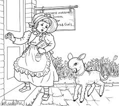 Small Picture Mary Had a Little Lamb Nursery Rhyme coloring page Free