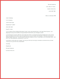 Basic Resume Cover Letter Template Cover Letter Examples For