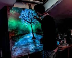 glow in the dark lighting. Glow In The Dark Lighting. Painting Crisco Art Lighting