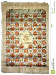 99 Names Of Allah In Golden On Papyrus Grunge Stock Photo