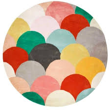 round multi colored rug geometric multi coloured bright fish scale patterned round rug rugs of beauty round multi colored rug