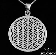 details about flower of life sacred geometry pendant in sterling silver 925
