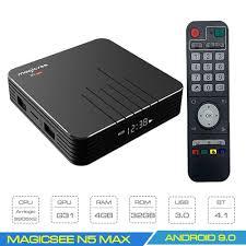 ANDROID TIVI BOX MAGICSEE N5 MAX S905X3 – RAM 4GB - ANDROID TV BOX GIẢI TRÍ  TỐT NHẤT 2020