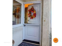 36 x80 single plastpro drs2d fiberglass dutch door with shelf and pull down vanishing