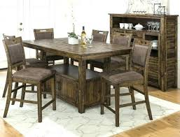 pub style kitchen table 6 chairs farmhouse dining table set dining room table gl top dining