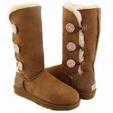 Authentic Chestnut Triple Bailey Button Uggs Ugg Slippers, Ugg Shoes, Shoe  Boots, Ugg