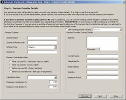 12050 Ae Config Tool Step 6 Pension Provider Scheme Details You