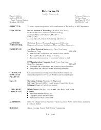 Undergraduate Resume Examples Examples Of Resumes