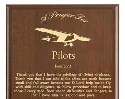 pilots prayer plaque pilot gift personalized flying gift an airplane pilot s prayer