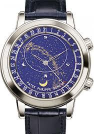 Patek Philippe 6102p 001 Grand Complications Perpetual Calendar Chronograph 44mm Blue Sky Chart Platinum Leather Automatic Brand New