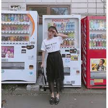 Vending Machine Skirt Adorable Japanese Lacetrimmed Letter Printed Cotton Tshirt Fashiontroy