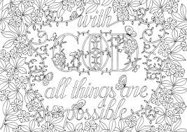 Small Picture Adult Colouring Page Bible Verse Matthew 1928 Instant