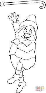 Leprechaun Kabouter Speelt Met Zijn Stok Kleurplaat Gratis