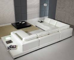 Small Picture Amazoncom T35 White Bonded Leather Sectional Sofa Set with