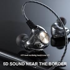 <b>K1</b> Transparent In-Ear Wired <b>Earphone</b> Subwoofer Stereo Bass ...