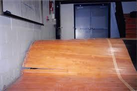 warped wood gym floor