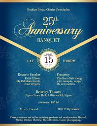 invitation flyer anniversary formal banquet dinner invitation flyer template royal