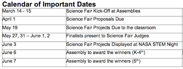 science fair details