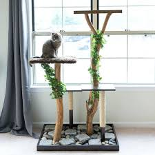diy kitty condo plans make a cat tree using real branches see how i made this