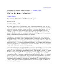 Pdf Whos In Big Brothers Database