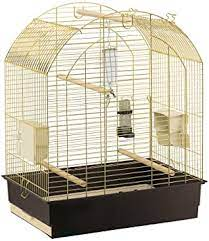 Amazon.co.jp: fa-purasuto Birdcage Greta Gold Greta Brass Bird Hamper Gauge  Full Set cockateal Budgerigars Large Bird : Pet Supplies