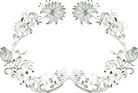 ポップでかわいい花のイラストフリー素材no946細い線画3
