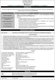 Java Developer Resume Samples Java Resume For Fresher's Mesmerizing Resume Experience
