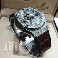 men s watches in ia for ▷ wristwatches prices ❤ buy hublot diamond stone men leather watch