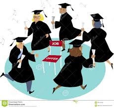 finding a job after college stock vector image  finding a job after college