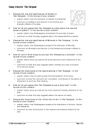 the tempest essay help analysis of the tempest gcse english marked by teachers com analysis of the tempest gcse english marked by teachers com